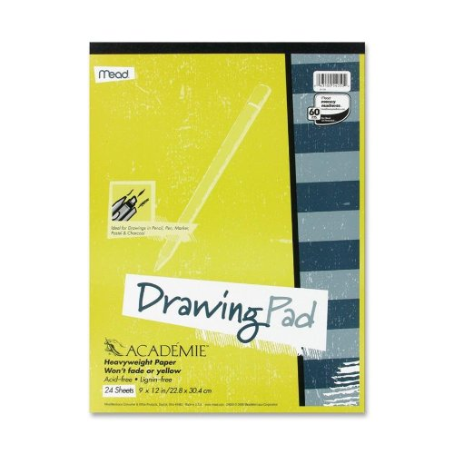 Mead Académie Drawing Pad, 24 Sheets, 9 x 12 Inch Sheet Size (54050) - 1
