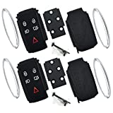 Discount Keyless Pair of Replacement 5 Button Case and Button Pads Compatible with Jaguar Remotes KR55WK49244 KR55WK45694