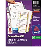 Avery - Ready Index Contents Dividers, 8-Tab, 1-8, Letter, Multicolor, Set of 8 11276 (DMi ST