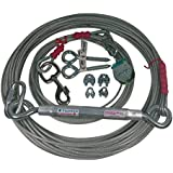 Freedom Pet Supply 75 Ft Heavy Duty Aerial Large Dog Trolley Run Leash Harness Cable Overhead FDR-75HD