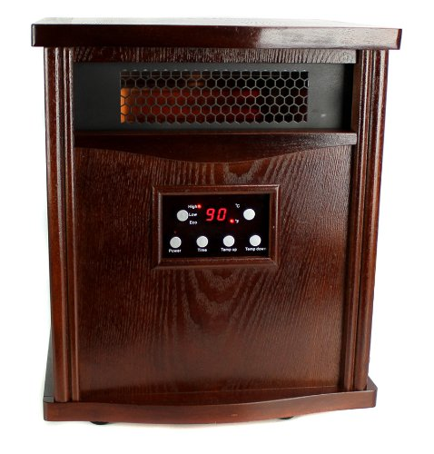 LifeSmart LifePro LS-1000HH 1800 Sq Ft Infrared Quartz Electric Portable Heater