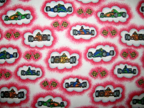 SheetWorld Fitted Sheet (BABYBJÖRN Travel Crib Light) - Race Cars Pink - Made In USA