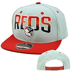 MLB American Needle Retro Snapback Hat Cap Hayes Flat Bill Wool Cincinnati Reds by American Needle