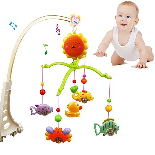 Bed Bell Baby Crib Mobile Music Box Bracket Nursery New Melodies Song Toys Hanging Auto Kids (Fairy Door Light Switch Cover compare prices)