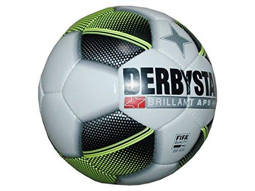 Derby Star Brillant APS/gioco ball pallone da calcio FIFA Approved bianco/nero/giallo, bianco / giallo