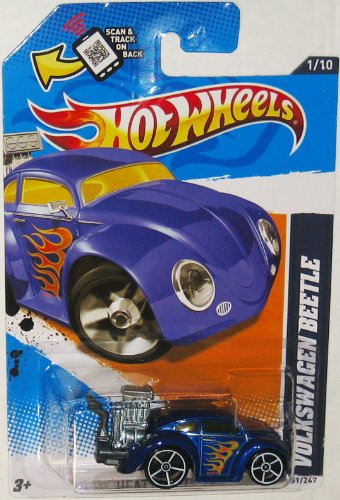VW BEETLE in Blue Hot Wheels 2012 Heat Fleet Series 1:64 Scale Collectible Die Cast Car #005 - 1
