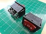 <3つのポジションで止まるモーター正転・逆転用ロッカースイッチ><ロッカースイッチ車載用スイッチ>2回路2接点ON-OFF-ONタイプ 2個入<swp-156>
