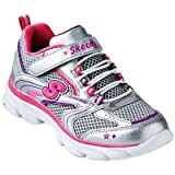 Skechers Lite Waves Skybeam Neon Pink/Neon Lime Girls 2.5