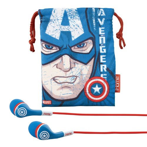 Avengers Captain America Noise Isolating earphones with Travel Pouch, MC-M152