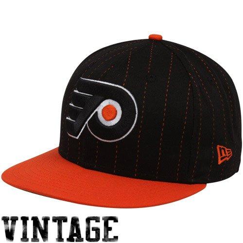 b6b35b95536 New Era Philadelphia Flyers Black Orange 9FIFTY Pinstripe Snapback  Adjustable Hat