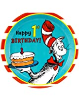 Dr. Seuss 1st Birthday Dinner Plates (8)