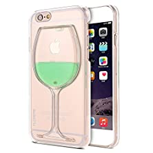 buy (Not For Plus) Iphone 6 Case- Floveme® Fashion Creative 3D Design Flowing Liquid Red Lip High Heels Wine Glass Case Clear Back Hard Case Cover For Apple Iphone 6 (Light Green)