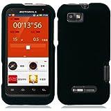 Black Hard Case Snap On Rubberized Cover For Motorola Defy XT / XT556