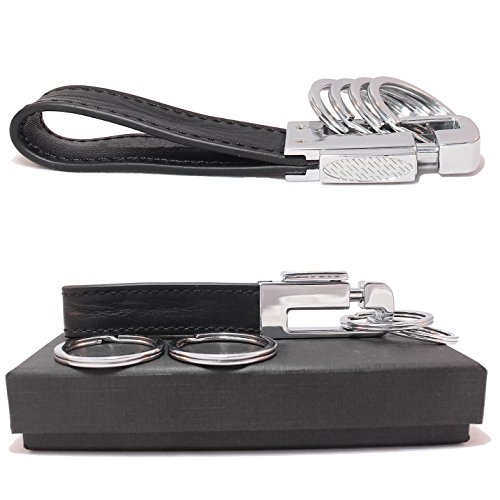 olivery-leather-valet-key-chain-with-4-detachable-key-rings-black-c003