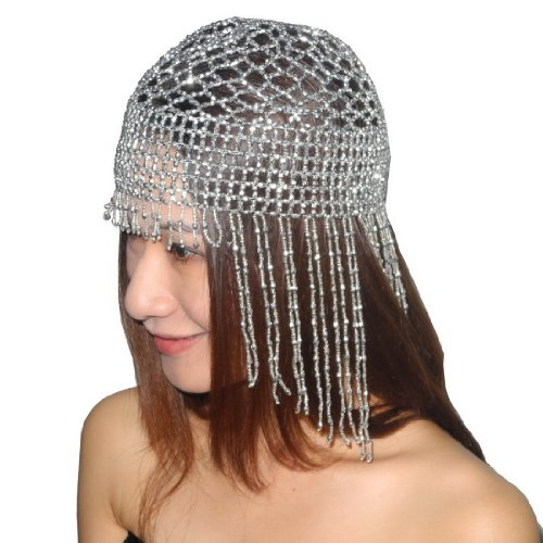 Womens Exotic Cleopatra Beaded Belly Dance Head Cap