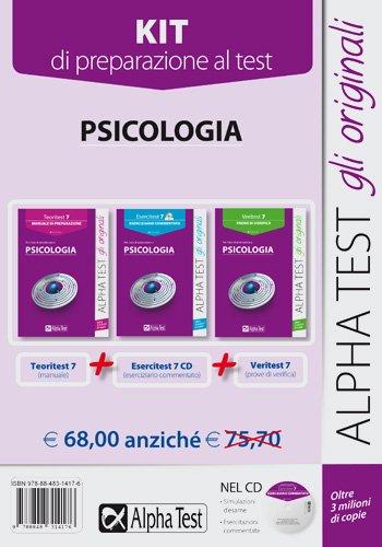 Psicologia. Manuale di preparazione, eserciziario commentato, prove di verifica. Kit di preparazione al test: 7