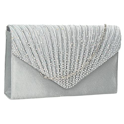 Abby Diamante Envelope style <strong>Clutch< strong> Bag -- SwankySwans