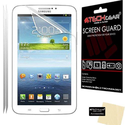"""TECHGEAR Displayschutzfolien für Samsung Galaxy Tab 3 mit 7""""-Display (matt, mit Blendschutz, inkl. Reinigungstuch und Applikationshilfe, geeignet für P3200 (SM-T210) und P3210 (SM-T211)) 2er-Packung"""