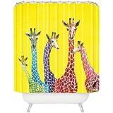 DENY Designs Clara Nilles Jellybean Giraffes Shower Curtain, 69-Inch by 72-Inch
