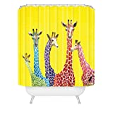 DENY Designs Clara Nilles Jellybean Giraffes Shower Curtain, 69-Inch by 72-Inch