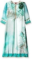 Satya Paul Women's Top (SC408-0050_Sea Green _Large)