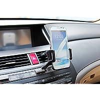 【la select】スマートフォン カーエアコン 車 エアコン 吹き出し口 iPhone GALAXY   Xperia [黒]