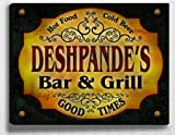 Deshpande&#039;s Bar &amp; Grill 14&#039;&#039; x 11&#039;&#039; Collectible Stretched Canvas