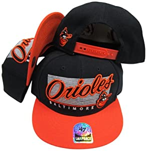 Baltimore Orioles Two Tone Plastic Snapback Adjustable Plastic Snap Back Hat Cap by Twins