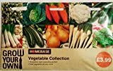 Homebase Vegetable Collection Seeds , 10 varieties , each separately packed Broccoli , Cabbage , Carrot , Cauliflower , Courgette, Leek , Marrow , Onion , Parsnip , Spinach