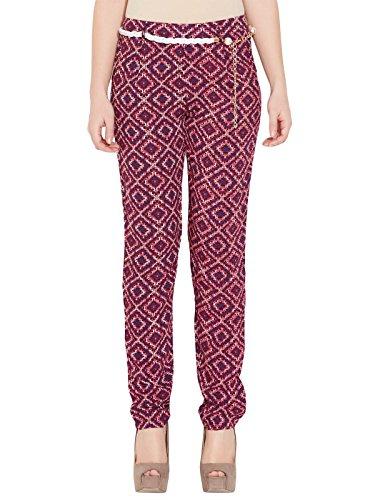 Deal Jeans Women Cotton Capri Maternity Trousers (13004 _Red _X-Large)
