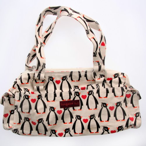 Bungalow360 Penguins Satchel Handbag