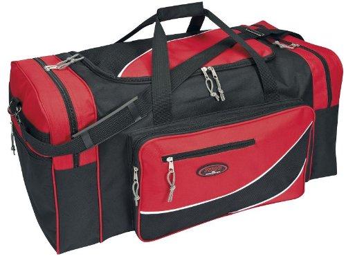 XL Reisetasche Sporttasche schwarz-rot ca. 60x32x30