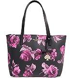 (ケイトスペード) kate spade new york ケイトスペード ニューヨーク hawthorne lane small roses ryan tote bag バラライアントートバッグ 2colors (並行輸入品) WHOOSSO (Black Multi)