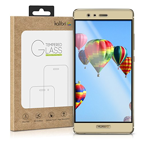 kalibri-Echtglas-Displayschutz-fr-Huawei-P9-3D-Curved-Full-Cover-Screen-Protector-mit-Rahmen-in-Gold