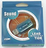 Carte son  USB  5,1 channal entrée micro et sortie audio