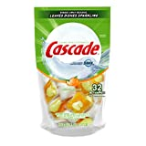 Cascade Action Pacs Dishwasher Detergent, Citrus Scent, 32-count Bag (Pack of 5)