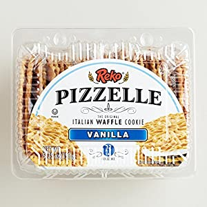 2 Pack Pizzelle Vanilla Italian Waffle Cookie