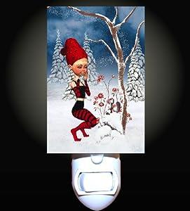 Cheeky Christmas Elf Decorative Night Light