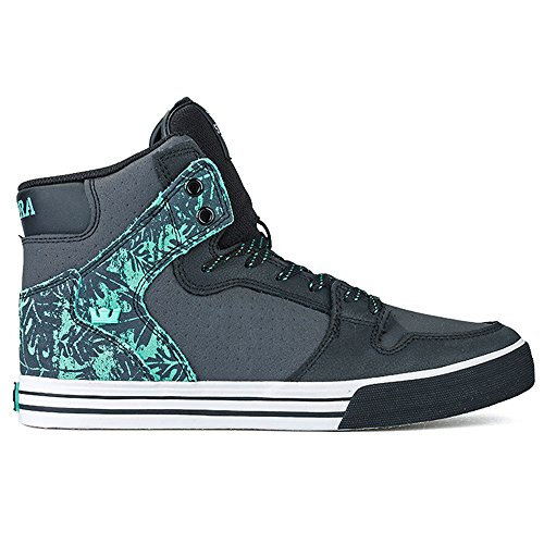 Supra Unisex Vaider Shadow/Mint/White Sneaker Men's 10.5, Women's 12 D (M)
