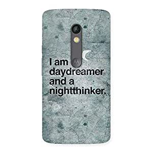 Cute Knight Thinker Multicolor Back Case Cover for Moto X Play