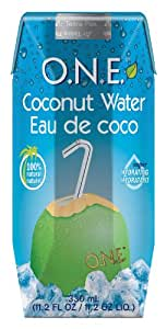 O.N.E. Coconut Water, 11.2-Ounce Aseptic Containers (Pack of 12)