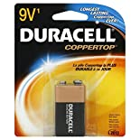 Duracell Coppertop Battery, Alkaline, 9V, 1 battery