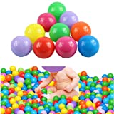 Estone 200pcs Colorful Ball Fun Ball Soft Plastic Ocean Ball Baby Kid Toy Swim Pit Toy