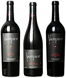 Vampire Vineyards Vampire Wine Mixed Pack II, 3 x 750 mL