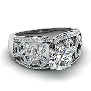 Pave Set 1 Ct Round Cut Diamond Tempting Heirloom Engagement Ring FLAWLESS GIA Certificate # 5166008763
