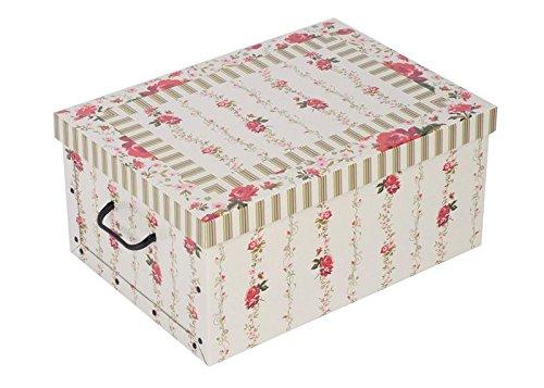 Aufbewahrungsbox-aus-robuster-Pappe-mit-Deckel-mit-Blumenmuster