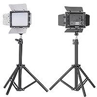 Bestlight W160 LED Photo Studio Barndoor Light Continuous Lighting Panel Kit LED Video Light Kit for Sony, Canon, Panasonic, Hitachi, Samsung& Similar DSLR Cameras - Including (2) W160 LED barndoor video light with 2 color Honeycomb Gel, (2)Mini Aluminum
