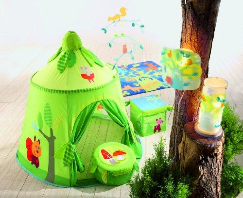 Siège cube de rangement - Forêt enchantée