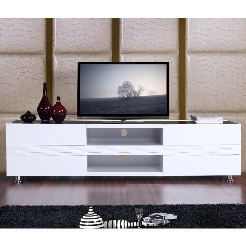 buy low price b modern editor series 79 tv stand in high gloss white lacquer b004wjtaj2. Black Bedroom Furniture Sets. Home Design Ideas