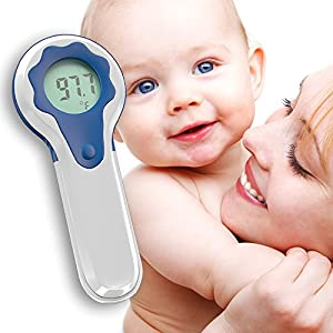 Zigabob Non-Contact Baby Forehead Thermometer - Non Invasive - Infrared - FDA Approved